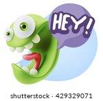 3d illustration laughing... | Shutterstock . vector #429329071