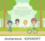 vector illustration of children ... | Shutterstock .eps vector #429340597