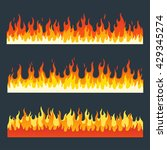 fire flames vector set in a... | Shutterstock .eps vector #429345274