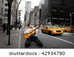Guitar Player In A Ny Street