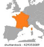 map   france | Shutterstock .eps vector #429353089