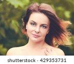 portrait close up of adult... | Shutterstock . vector #429353731