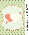 happy valentine day card vector ... | Shutterstock .eps vector #429354739