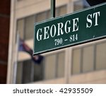 george street sign | Shutterstock . vector #42935509