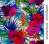 amazing vector tropical flowers ... | Shutterstock .eps vector #429356665