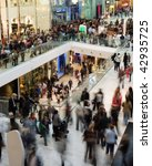 crowd in the mall  motion... | Shutterstock . vector #42935725