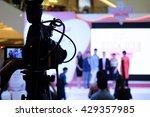 photographer video recording... | Shutterstock . vector #429357985