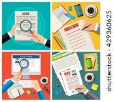set of job interview concept... | Shutterstock .eps vector #429360625