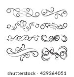 set of page decoration line... | Shutterstock .eps vector #429364051