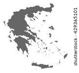 map   greece | Shutterstock .eps vector #429365101