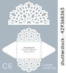 vector die cut envelope... | Shutterstock .eps vector #429368365