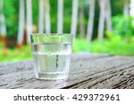 cool water in a glass on table | Shutterstock . vector #429372961