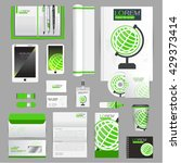 white identity template with... | Shutterstock .eps vector #429373414