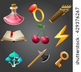 cartoon icons collection for 2d ... | Shutterstock .eps vector #429376267