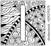 hand drawn zentangle pattern... | Shutterstock . vector #429379279