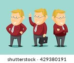 set of funny caricatures... | Shutterstock .eps vector #429380191