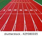 Running Track At The Stadium...