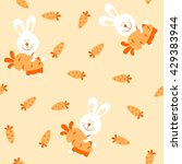 bunny and carrot  seamless... | Shutterstock .eps vector #429383944
