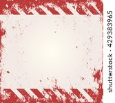 warning background with red and ... | Shutterstock .eps vector #429383965