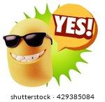 3d rendering smile character... | Shutterstock . vector #429385084