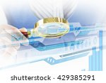 analyzing sales data | Shutterstock . vector #429385291