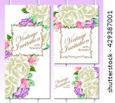 vintage delicate invitation... | Shutterstock .eps vector #429387001