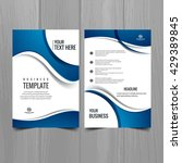 blue color business brochure | Shutterstock .eps vector #429389845