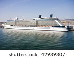 a luxury cruise ship anchored... | Shutterstock . vector #42939307