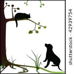 animal,bark,barking,black,branch,brown,cat,claw,cuddle,cute,dog,garden,grass,green,growling