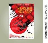 poster flyer  brochure business ... | Shutterstock .eps vector #429399241
