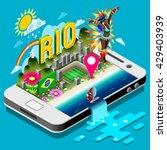 rio brazil summer games... | Shutterstock .eps vector #429403939