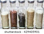 different kinds of rice | Shutterstock . vector #429405901