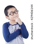 Cute Schoolboy Thinking Idea...