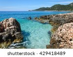 the coastline of beautiful... | Shutterstock . vector #429418489