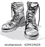 old army boots. military... | Shutterstock .eps vector #429419635