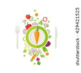 vegetables background   can... | Shutterstock .eps vector #429421525