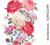 vintage vector floral seamless... | Shutterstock .eps vector #429422299