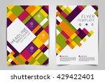 abstract vector modern flyers... | Shutterstock .eps vector #429422401