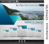 black and blue fold technology...   Shutterstock .eps vector #429426781