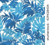 tropical leaves print... | Shutterstock .eps vector #429428434