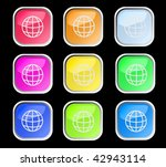 web shiny buttons. vector... | Shutterstock .eps vector #42943114