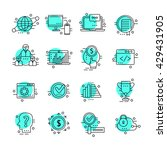 set of thin line business icons | Shutterstock .eps vector #429431905