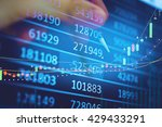 data analyzing in trading... | Shutterstock . vector #429433291