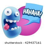 3d illustration laughing... | Shutterstock . vector #429437161