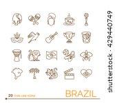 thin line icons brazil. eps 10. ... | Shutterstock .eps vector #429440749