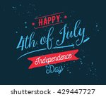 fourth of july  united stated... | Shutterstock .eps vector #429447727