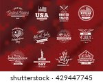 fourth of july  united stated... | Shutterstock .eps vector #429447745