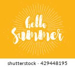 hello summer text. positive... | Shutterstock .eps vector #429448195