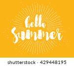 Hello Summer Text. Positive...
