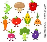 cartoon vegetable characters.... | Shutterstock .eps vector #429451789